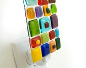 Fused Glass Night Light - Color Squares