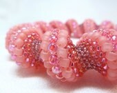 Caribbean Sunrise Cellini Spiral Beadwoven Bangle Bracelet - The Twisted Collection
