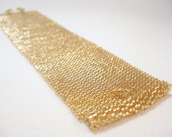 Cloth of Gold Beadwoven Cuff Bracelet - the Luxe Collection