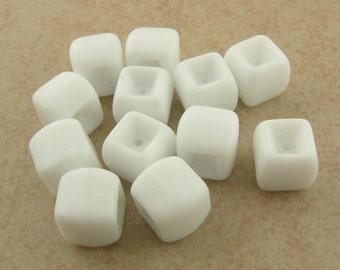 Vintage White Concave Glass Cubes BULK LISTING