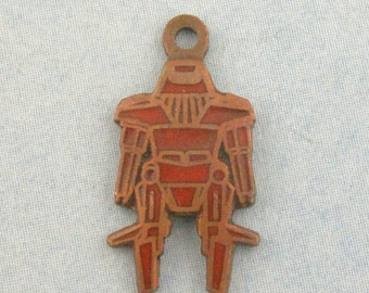 Mini Max Funky Coppery Robot Charms