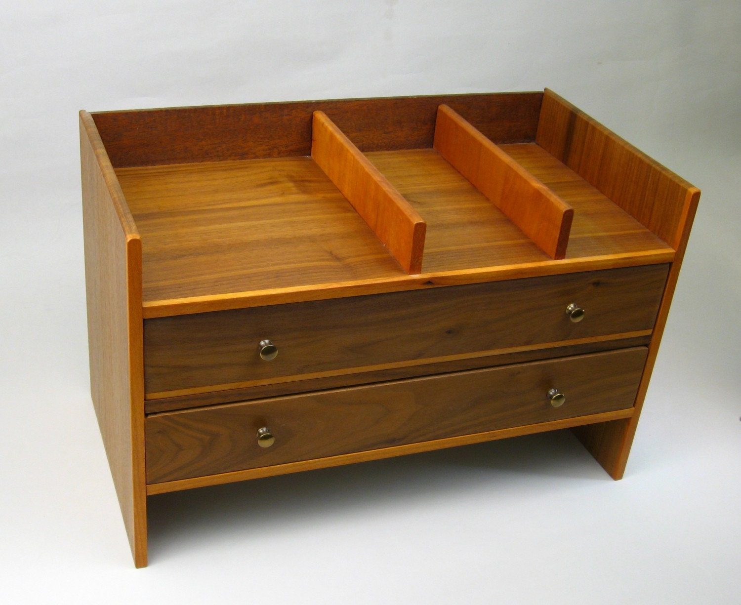 Desk organizer cherry and walnut on sale - Cherry desk organizer ...