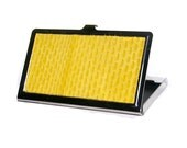 Bright Yellow Snakeskin Card Case - by UNEARTHED