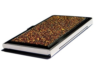 Metallic Gold Genuine Stingray Business Card Case - by UNEARTHED