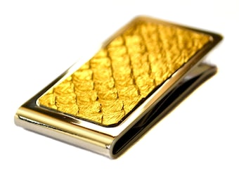 Foil Gold Metallic Snakeskin Money Clip - by UNEARTHED