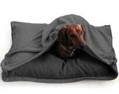 Eco Pet Bed - Recycled Grey Fleece