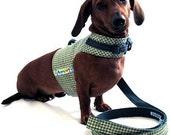 Eco Dog Harness - Green Plaid - MED