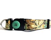 Eco Dog Collar - Renewable Green Tiki Cotton