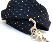 Eco Pet Leash - Recycled Navy Dot Necktie