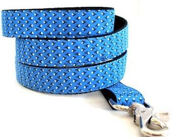Eco Dog Leash - Renewable Blue Dot Cotton