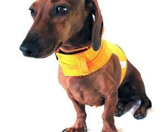 Eco Dog Harness - Renewable Orange Dot Cotton - Large