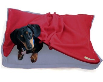 Eco Pet Bed - Blue Red Fleece