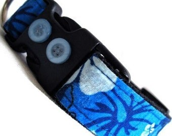 Eco Dog Collar- Renewable Hawaii Blue Cotton