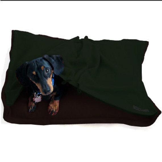 Eco Pet Bed - Recycled Brown Green Fleece