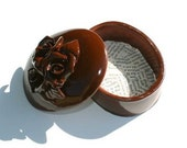 Trinket Box in Chocolate Brown