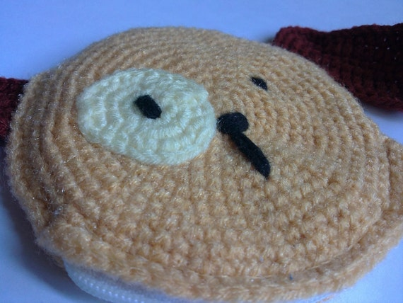 Crochet Coin Purse with Zipper-My Little Brown Doggy