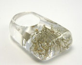 Silver  MOSS Ring/reserved for Lisa