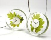Alcee Oak Leaves, Leaves Resin Earrings