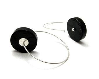 Black A Line Earrings