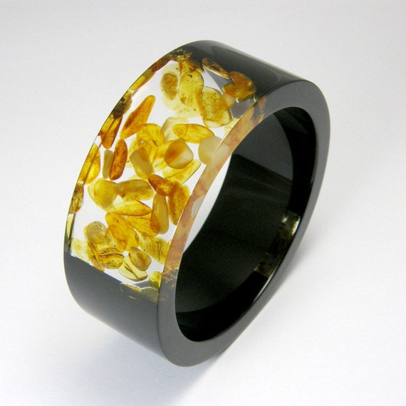 Resin and Amber Bangle model 1/4 /M size