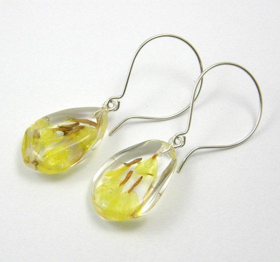 Yellow Flowers Earrings
