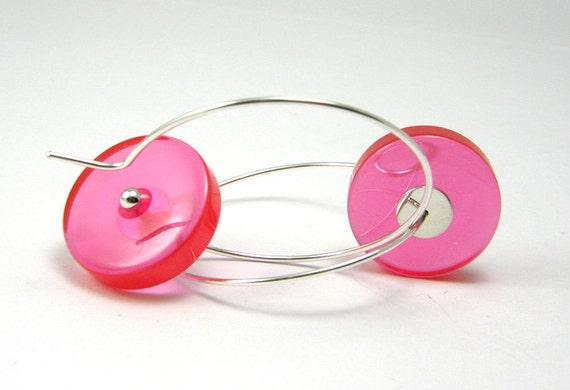 ALCEE pink earrings, Resin Earrings, Geometric Earrings