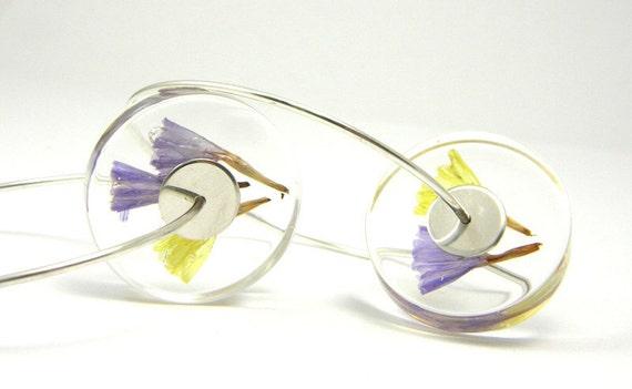 Alcee Flowers, Floral Resin Earrings