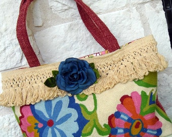Carpet Bag with Flowers