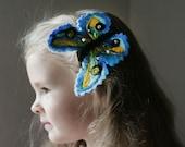 Blue Butterfly Hair Clip Hairpin Clippie Barrette