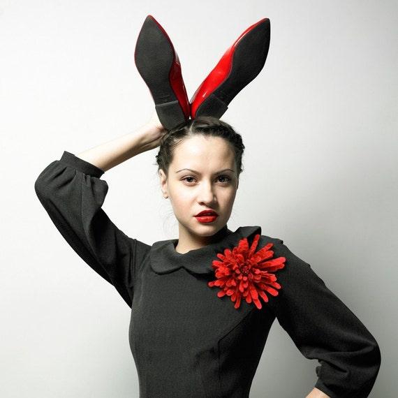 Design Your Own Custom Corsage -- Felt Flower Brooch -- Hand felted wool