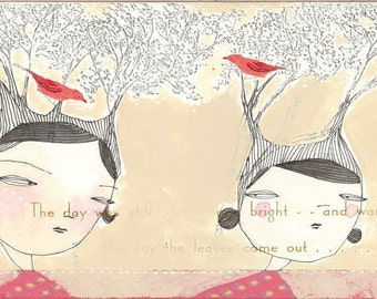 kindred spirits....A  5 x 10 inch limited edition archival print by cori dantini