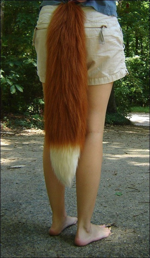 26 Inch Red Fox Tail l...
