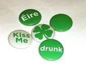St. Patrick's Day 1 inch Button Pin Set