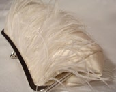 Ostrich Feather Bridal Clutch