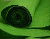 Hand Woven Hemp Linen Himalaya Fabric - Lime Green