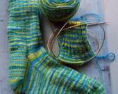 Top Notch Top Down Socks - Knit Pattern
