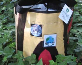 Recycled Billboard Bucket Bag