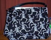 Dancing Skeletons large purse