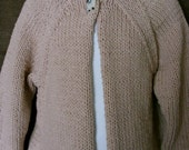 Jersey Cream Hooded Baby Jacket Sweater Size 6-12 months Hoodie Baby Knitwear-Ready to Ship