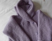 Lilac Double Breasted Pure Wool Toddler Duffle Coat - Ready to Ship