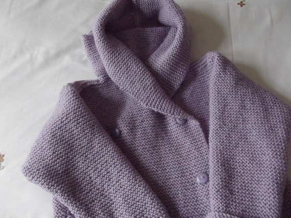 WOOL BABY JACKET/Lilac Double Breasted Pure Wool Toddler Duffle Coat - Ready to Ship