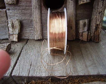26- GauGe RoSe GolD WiRe-5 ft