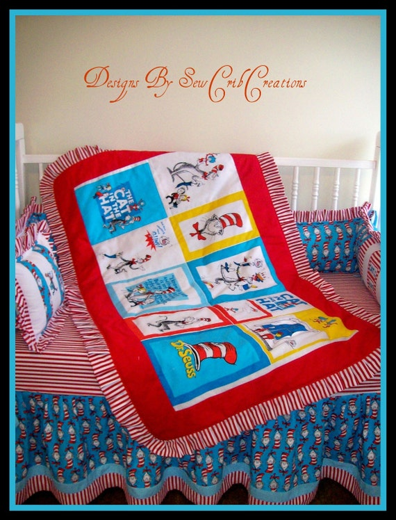 items similar to dr seuss crib bedding set on etsy