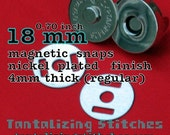 15 Sets 18 mm / 0.7 inch Magnetic Snap Closures (available in nickel, antique brass, and gun metal)