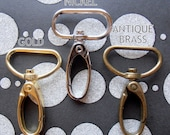 40 Swivel Spring Hooks - 2 inch long / 1 inch webbing capable (available in gold color, nickel, and antique brass)