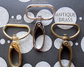 100 Pieces Swivel Spring Hooks - 2 inch long / 1 inch webbing capable (CHOOSE YOUR FINISH gold color, nickel, and antique brass finish)