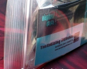 40 Clear Recloseable Poly Bags (choose from 3x4,3x5, 3x6, 4x6