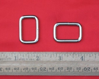 100 pieces 1 Inch / 26mm Metal Wire-Formed Rectangle Rings (available in nickel and antique brass finish)