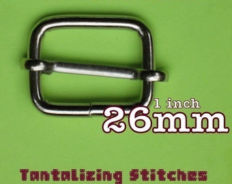 30 Pieces Wire-Formed Slides - 1 inch / 26 mm (available in nickel and antique brass finish)