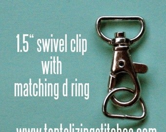 40 Sets 1.5 Inch Swivel Clips with Matching D Ring (available in Nickel and Antique Brass Finish)